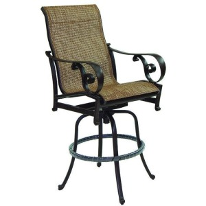 High Back Sling Swivel Bar Stool