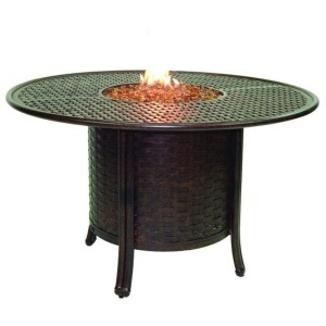 Round Firepit Dining Table
