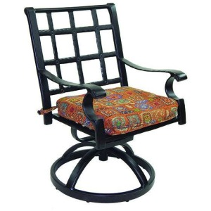 Cast Swivel Rocker With Seat Cushion