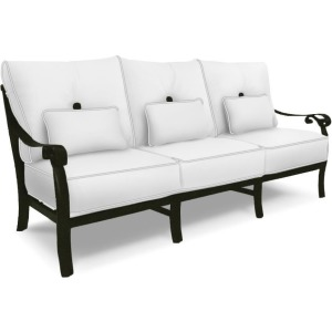 Cushioned Sofa With/Three Kidney Pillows