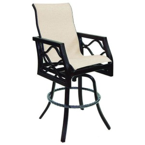 High Back Sling Bar Stool