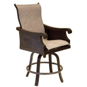 High Back Sling Swivel Counter Stool