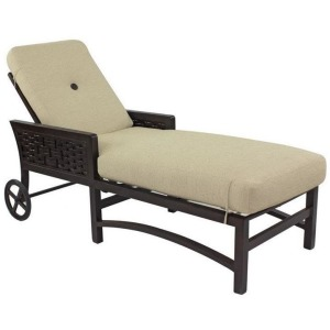 Cushioned Chaise Lounge
