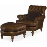 Century Leather Prescott Leather Ottoman