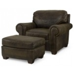 Bob Timberlake Upholstery Dr. Perryman Chair With Ottoman As Shown Only