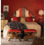 Century Signature Queen Court Scroll Uph Headboard