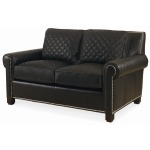 Century Trading Company Leather Quilted Love Seat