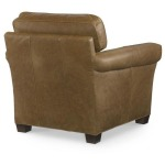 Century Trading Company PLR-69CO-TAN - Leather Chair With Ottoman