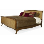 Grand Tour Furniture Cane With Wood Trim Bed - King Size King