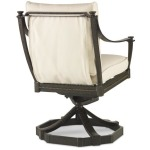 Andalusia D12-52-9 - Swivel Rocker Dining Arm Chair