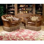 Century Leather Chester Swivel Chair
