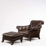 Century Leather Grog Chair