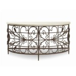 Archive Home and Monarch LAFAYETTE CONSOLE WITH MARBLE TOP