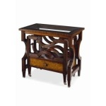 Archive Home and Monarch NESTING BOOKRACK CANTERBURY TABLE