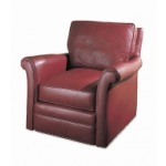 Century Leather Buffalo Swivel Chair