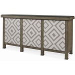 Mesa Buffet With Marble Top & Upholstered Door Fronts