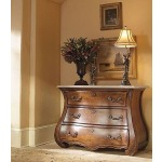 Caperana, Casa and Barcelona Collection BOMBE DRAWER CHEST WITH TRAVERTINE TOP