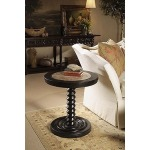 Caperana, Casa and Barcelona Collection CHAIRSIDE TABLE WITH OATMEAL MARBLE INSERT