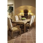 Caperana, Casa and Barcelona Collection DINING TABLE WITH COCOA MARBLE INSERTS