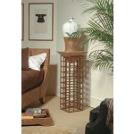 Century Classics Collection METAL PLINTH STAND WITH LEATHER PLATFORM