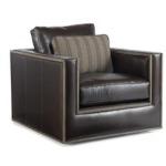 Century Leather Bolton Swivel Chair