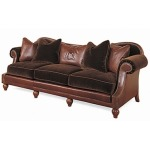 Century Leather Prince of Wales Sofa