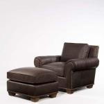 Century Leather Serrano Ottoman
