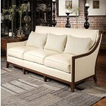 Century Leather Svelte Sofa