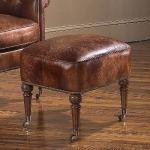 Century Leather Windsor Ottoman