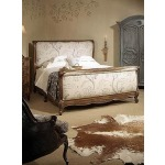 Coeur de France & Bordeaux Collection BED WITH UPHOLSTERED HEADBOARD & FOOTBOARD - Queen Size Queen