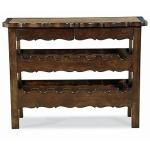 Coeur de France & Bordeaux Collection WINE CONSOLE WITH HAMMERED COPPER INSERT TOP