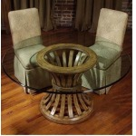 Custom Dining Collection ROUND GLASS DINING TOP 48