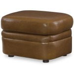 Century Trading Company PLR-67CO-HONEY - Leather Chair With Ottoman