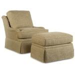 Century Home Elegance Russel Skirted Swivel Chair