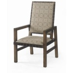 Mesa Sierra Dining Arm Chair With Leather Strap Trim