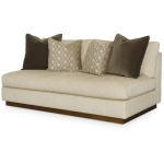 Carrier Armless Love Seat