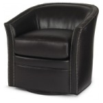 Century Trading Company Leather Swivel Chair