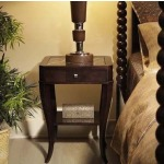 Metro Luxe Collection BEDSIDE TABLE WITH MARBLE INSERT TOP