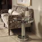 Metro Luxe Collection MIRROR GLASS CHAIRSIDE TABLE