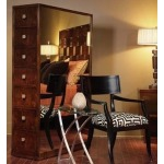 Omni Collection TALL DRAWER CHEST WIHT MIRRORED SIDES