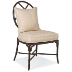 Orient DINING SIDE CHAIR  Powder Coated Aluminum