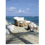 Oscar de la Renta Outdoor CONCH CHAISE  Hularo Chalk White