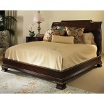 Wellington Court Collection PLATFROM BED WITH VENEER HEADBOARD