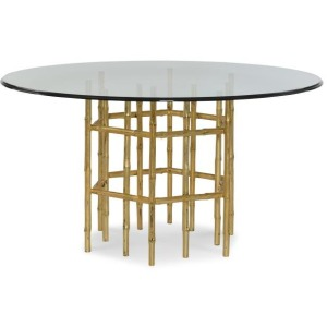 """Charlotte Moss - Jasper Dining Table With 60"""" Tempered Glass Top"""
