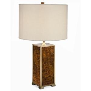 Grand Tour Accessories Michel Walnut Burl Table Lamp