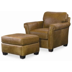 Century Trading Company - Leather Chair With Ottoman