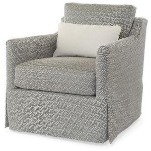 Century Home Elegance - Allison Skirted Swivel Chair