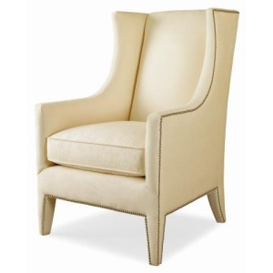 Century Leather Sophia Wing Chair