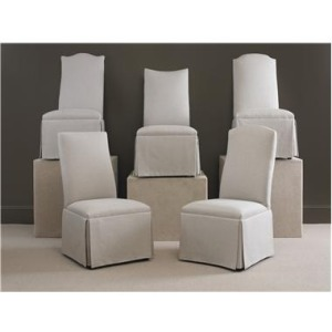 Century Chair CHANDLER CURVED BACK WITH CAMELBACK TOP with casters