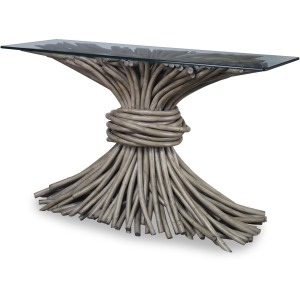 Knot Console Table-French Grey